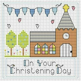 Christening Day Boy Cross Stitch Card Kit