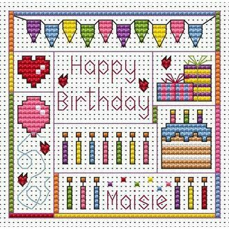 Birthday Delights Cross Stitch Card Kit