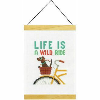 Wild Ride Banner Cross Stitch Kit