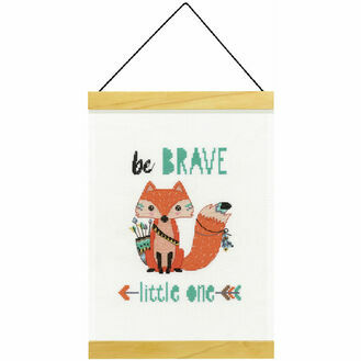 Be Brave Banner Cross Stitch Kit