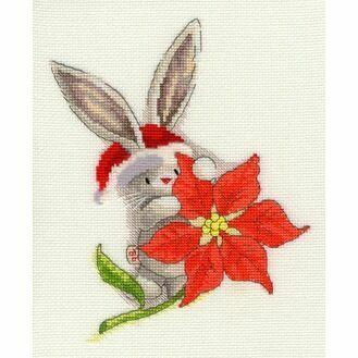 Bebunni - Poinsettia Cross Stitch Kit