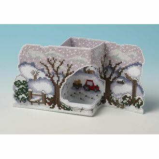 Christmas On The Farm 3D Cross Stitch Card Kit