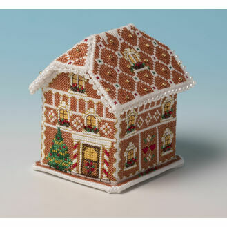 Gingerbread Lodge 3D Cross Stitch Kit
