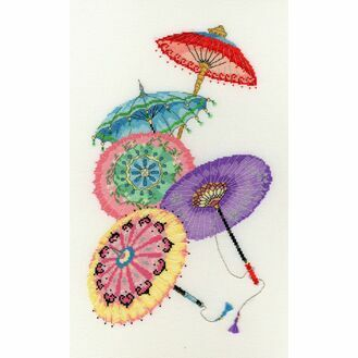 Parasols Cross Stitch Kit