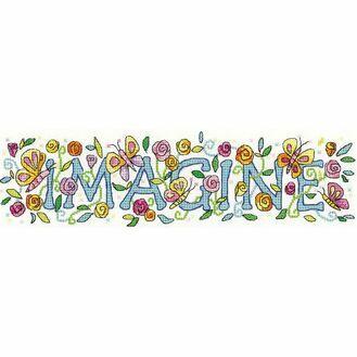 'Imagine' Cross Stitch Kit