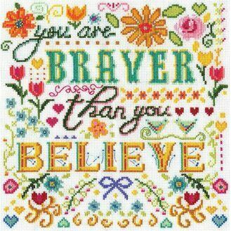 Braver Cross Stitch Kit