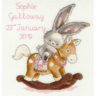 Bebunni - Rock A Bye Bunny Cross Stitch Sampler