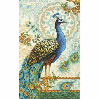 Royal Peacock Cross Stitch Kit