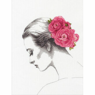 Floral Portrait Cross Stitch Kit
