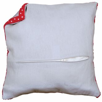 Cushion Back Grey With Zipper 45x45cm