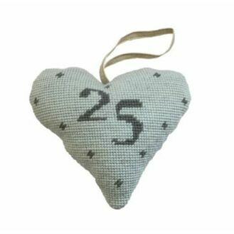 Silver Wedding Anniversary Heart Tapestry Kit