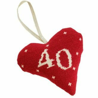 40th Birthday / Anniversary Heart Tapestry Kit