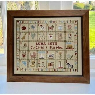 T Is For Tortoise Birth Sampler Cross Stitch Kit