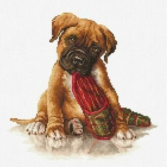 The Boxer Cross Stitch Kit