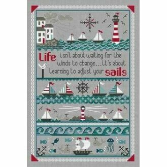 Adjust Your Sails Cross Stitch Kit