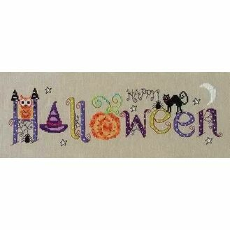 Halloween Banner Cross Stitch Kit