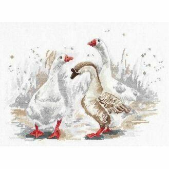 Three Merry Geese Cross Stitch Kit