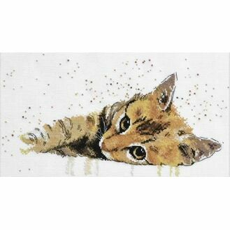 Lazy Cat Cross Stitch Kit