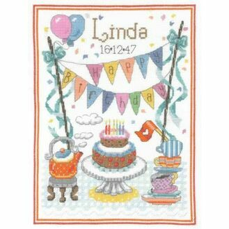 Birthday Tea Cross Stitch Kit
