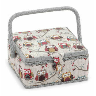 Hobby Gift Small Square Sewing Box - Hoot Design