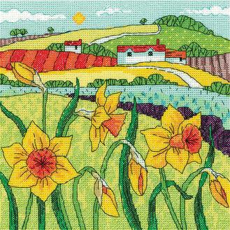 Daffodil Landscape Cross Stitch Kit