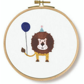 Roar! Lion Embroidery Kit