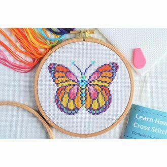 Beginners Butterfly - Learn How To Cross Stitch Complete Tutorial Kit