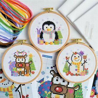Christmas Trio Cross Stitch Kits