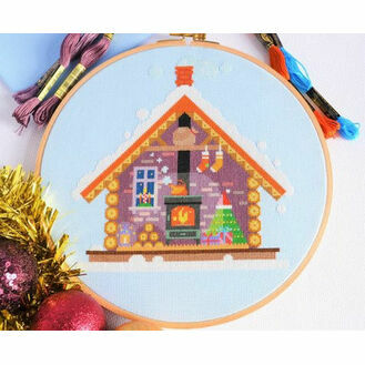 Santa\'s Cosy Cabin Cross Stitch Kit