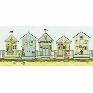 New England: Beach Huts Cross Stitch Kit