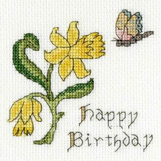 Daffodil Cross Stitch Card Kit