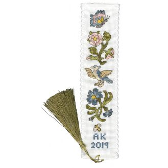 Rose And Cornflower Bookmark Cross Stitch Kit