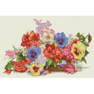 Garden Flowers Cross Stitch Kit