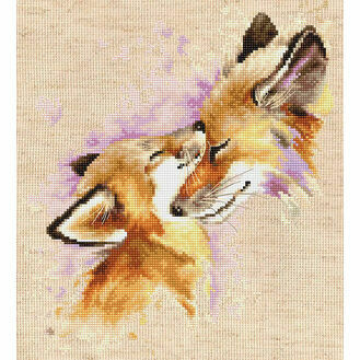 Foxes Cross Stitch Kit