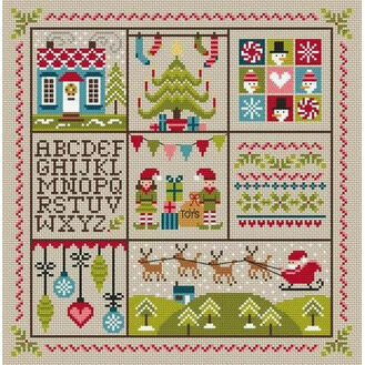 Holly Jolly Christmas Cross Stitch Kit