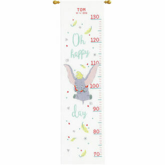 Disney: Dumbo Oh Happy Day Height Chart Cross Stitch Kit
