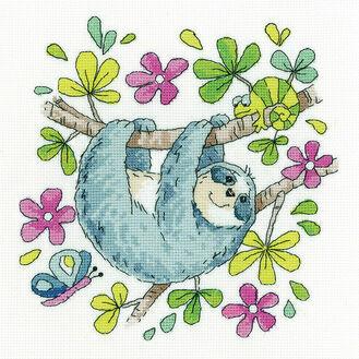 Sloth Cross Stitch Kit
