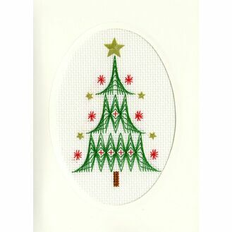 Christmas Tree Cross Stitch Card Kit