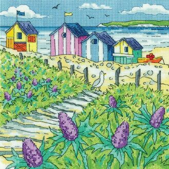 Sea Holly Shore Cross Stitch Kit