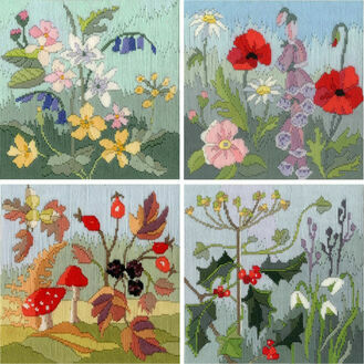 Four Seasons Long Stitch Kits (Set of 4)