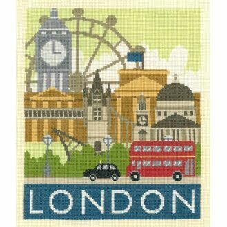 London Cityscapes Cross Stitch Kit