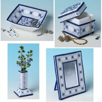 Lapis Lazuli Dressing Table 3D Cross Stitch Kits - Set Of 4