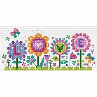 Flowers Of Love Cross Stitch Kit