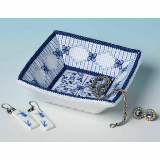 Lapis Lazuli Trinket Tray 3D Cross Stitch Kit