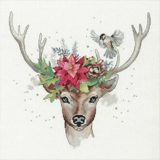 Woodland Deer Cross Stitch Kit