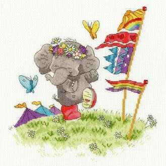 Party Animal Elly Cross Stitch Kit