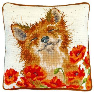 Fox In A Poppy Field Tapestry Panel Kit
