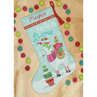 Llama Stocking Cross Stitch Kit
