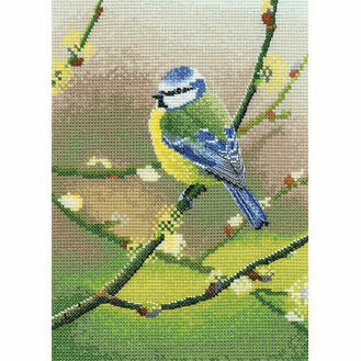 Blue Tit Cross Stitch Kit