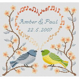 Wedding Song Cross Stitch Kit